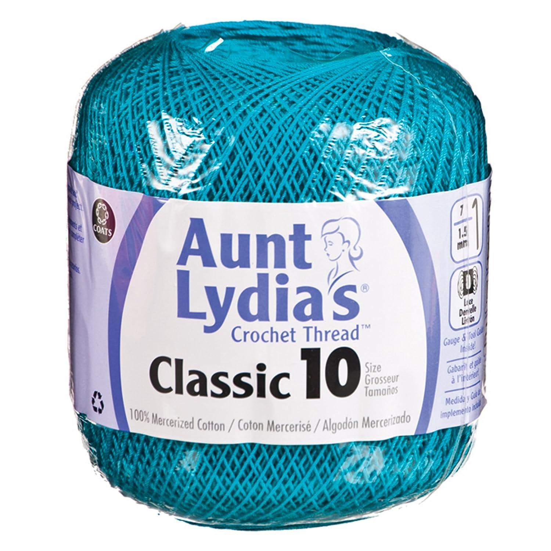 Bulk Buy: Aunt Lydia's Crochet Cotton Classic Crochet Thread Size 10 (3-Pack) Antique White 154-0210 Coats & Clark Inc. BCAC24876