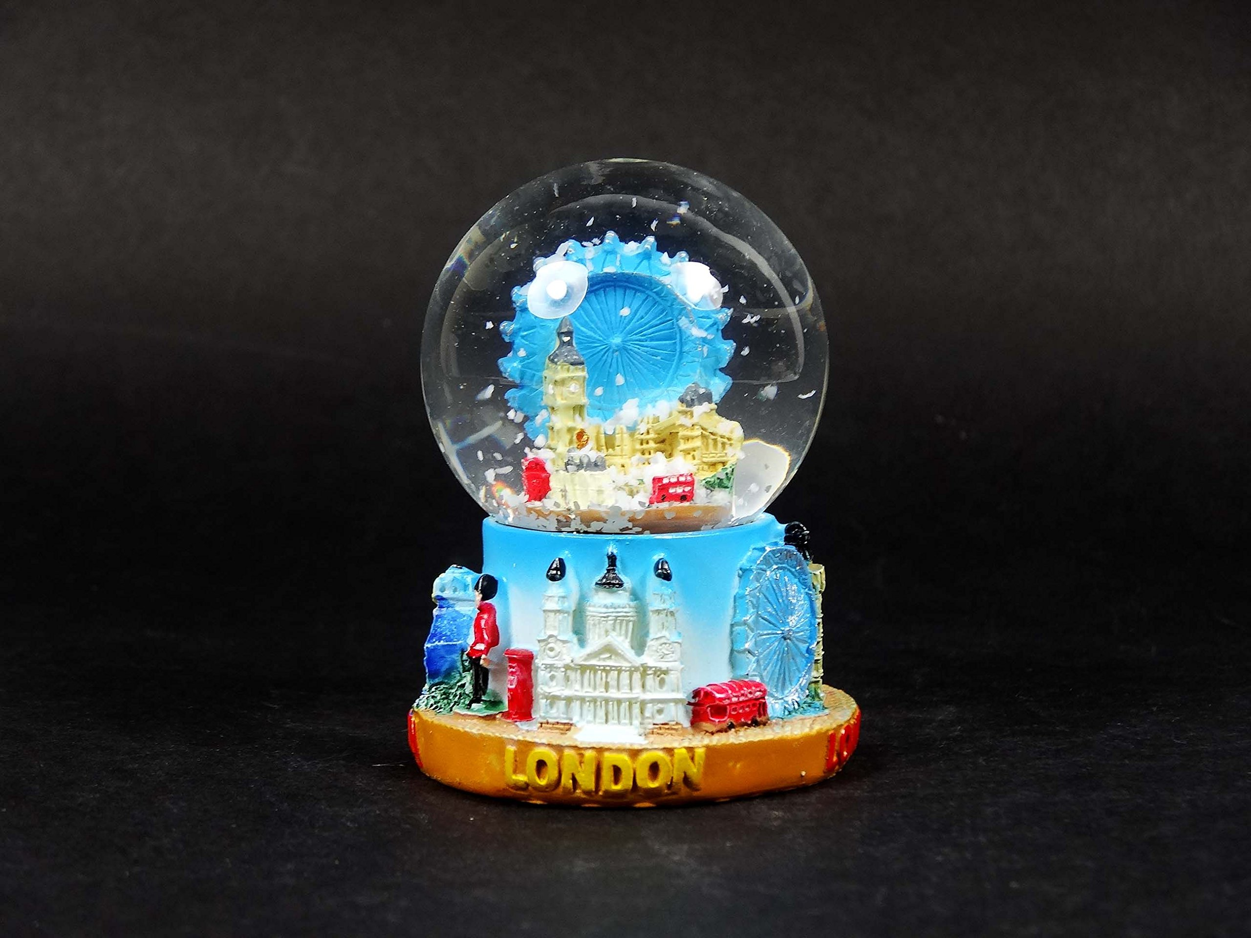 Snow Globe (Small)- Composite, Detailing Famous London Landmarks Including Big Ben, London Eye and Tower Bridge.