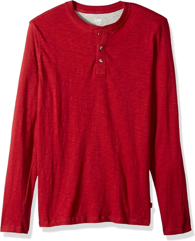 LEE Mens Shirt Weekender Long Sleeve Casual Henley Regular Big Tall