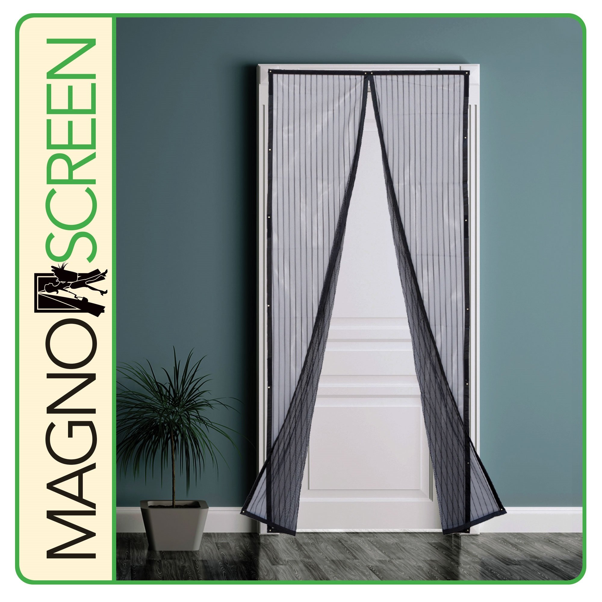 Park Ridge MSD3280 Magnetic Screen Door, 32x80'', Black
