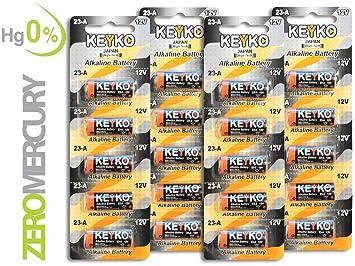 KEYKO - Batería alcalina A23 de 12 VA23s/MN21/Gp23ae para ...