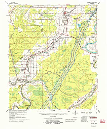 Topographic Map Mississippi.Amazon Com Yellowmaps Bayland Ms Topo Map 1 62500 Scale 15 X 15