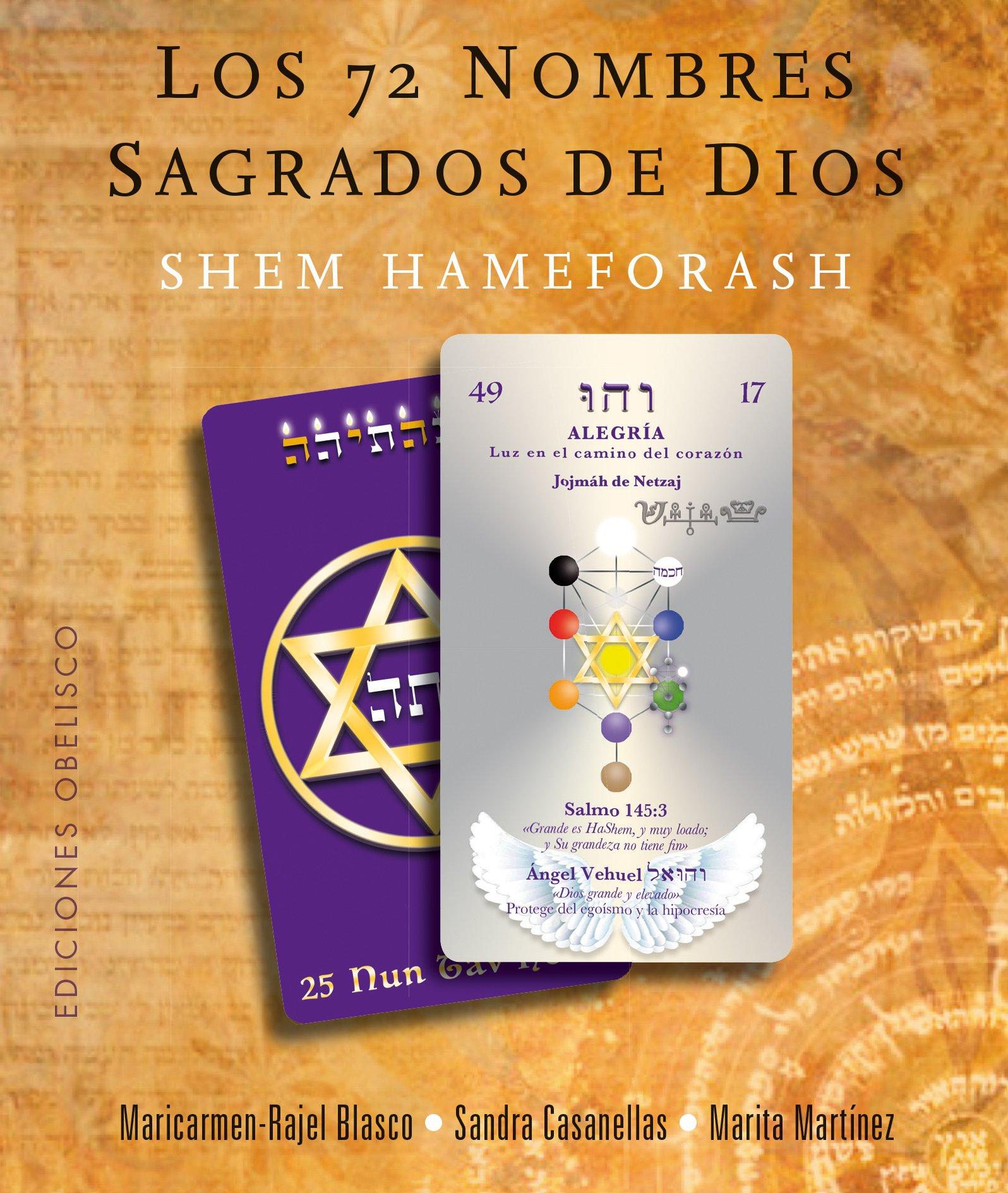 Los 72 Nombres Sagrados de Dios. (Libro + 73 Cartas) (CARTOMANCIA)