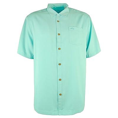 Men's Big &Tall Royal Bermuda IslandZone Camp Shirt-BR-2XL: Tommy Bahama: Clothing