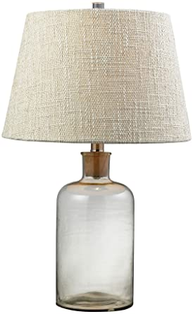 Hgtv Home Clear Glass Bottle Table Lamp With Cork Neck Amazon Com