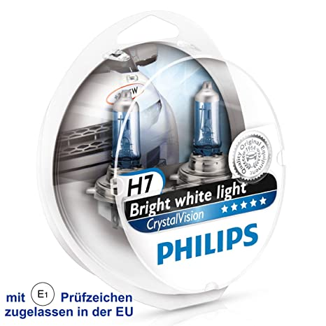 Lampadine H7 Led Philips.Philips Crystal Vision Ultra 2x H7 4300 K Xenon Effect Headlight Bulbs 2x W5w Bvu 12972cvusm Duo E1 Tested