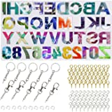 Alphabet Resin Molds Backward, Letter Number Silicone Molds for Resin, Epoxy Molds for Making Keychain Pendant Jewelry…