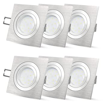 Gut bekannt 6 Stück LED-Einbaustrahler Set flach für 230V ohne Trafo - SSC PT33