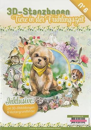 Find It 3d Papier Stanzmotiv Stanzbogen Block Buch Tiere In Der