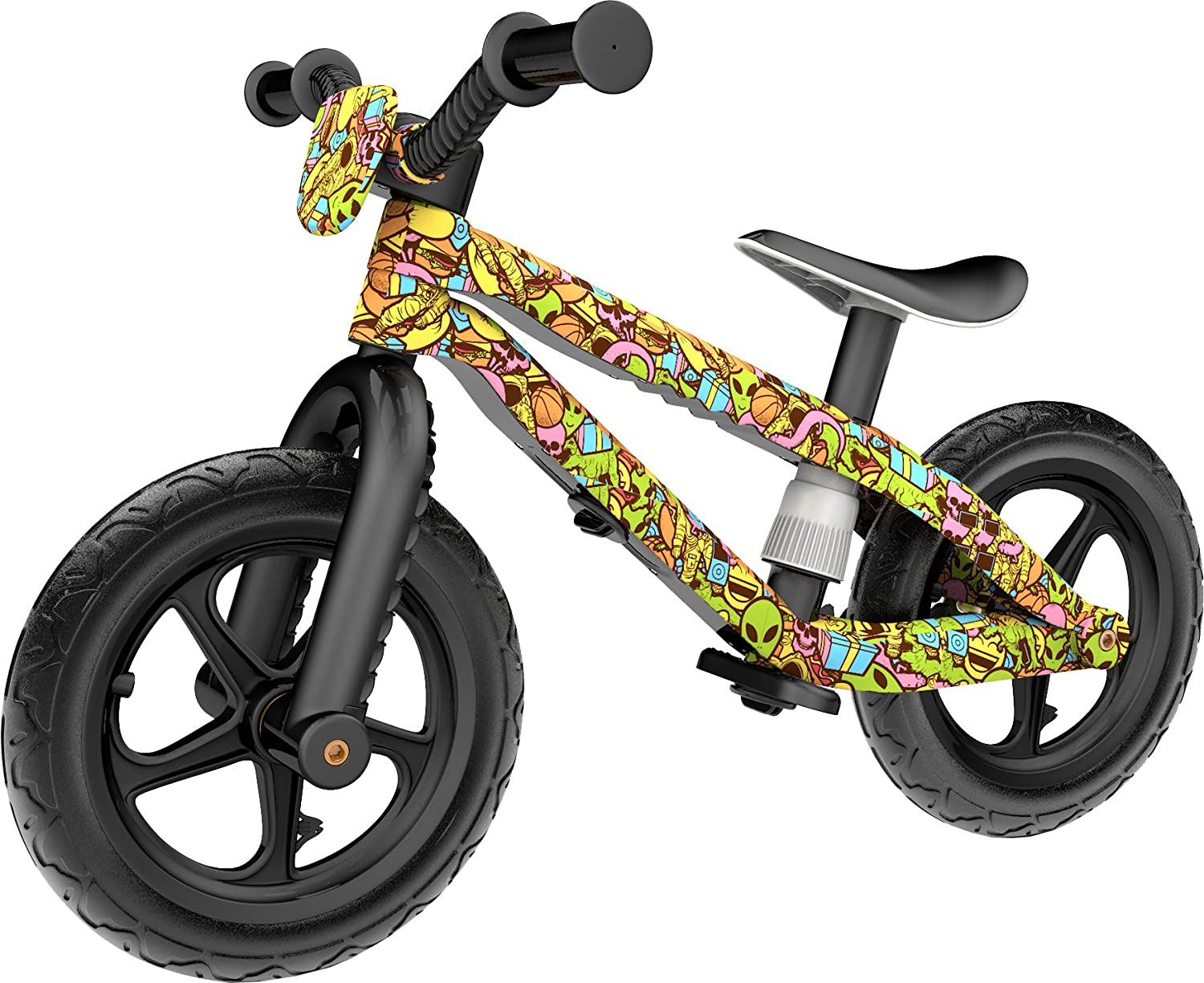 Chillafish BMXie-RS: BMX Balance Bike with Airless RubberSkin Tires, Blue (Motion of The Ocean) The Chillafish Company NV CPMX01BLU-RS
