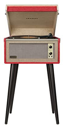 Crosley CR6233A-RE Dansette Bermuda Portable Turntable