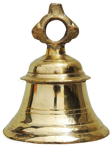Parijat Handicraft Solid Brass Temple Ganta Hanging Ship Bell Brass