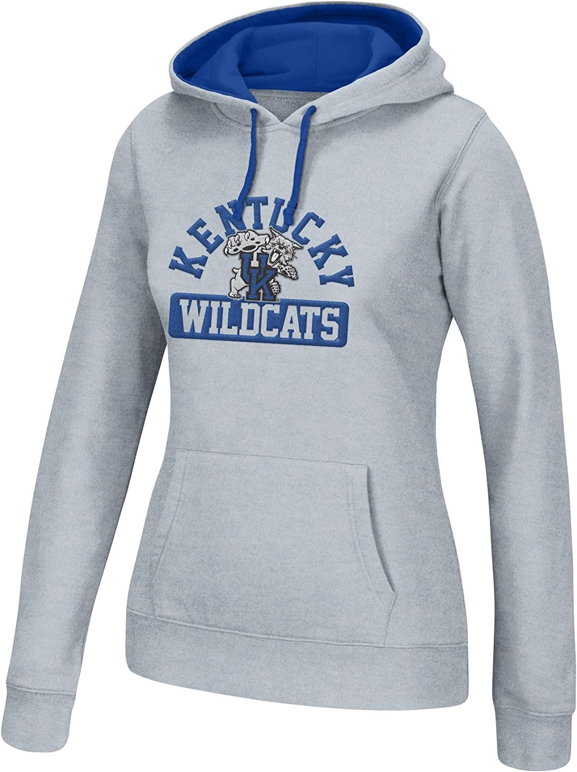 J America NCAA Kentucky Wildcats Womens NCAA Womens Cursive Team Hoodie Oxford Royal Large
