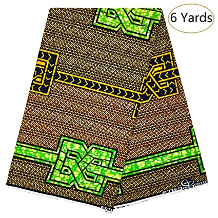 Amazon com: Dexuelan Java African Wax Print 6 Yards Fabric