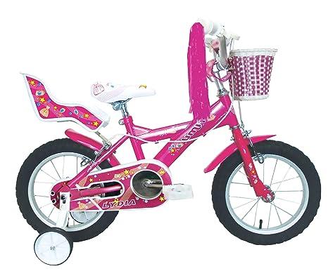 MuGuang 14 Pulgadas Bicicleta Infantil Estudio Aprendizaje Montar a Caballo Bicicleta ni/ños ni/ñas Bicicleta con ruedines con Campana por 3-8 a/ños