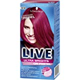 Schwarzkopf Live Ultra Bright or Pastel Colouration, Raspberry Rebel Number 091 - Pack of 3