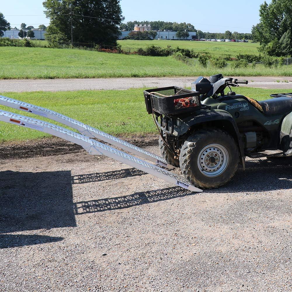 """Loading Ramps For ATV 13x69/""""  Aluminum Truck Trailer Pair Straps 4 Wheeler New"""
