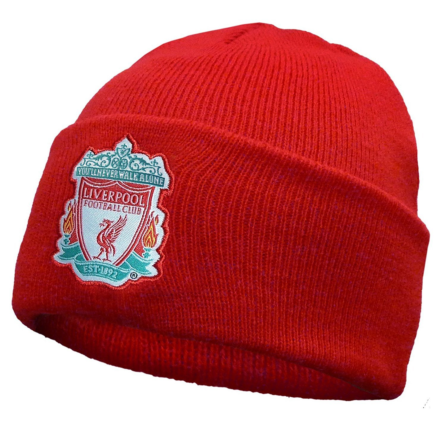 Liverpool FC Official Football Knitted Bronx Beanie Hat