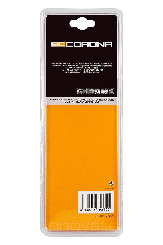 Bc Corona INT30539 Juego de 4 Muelles de Cabezal Cromados