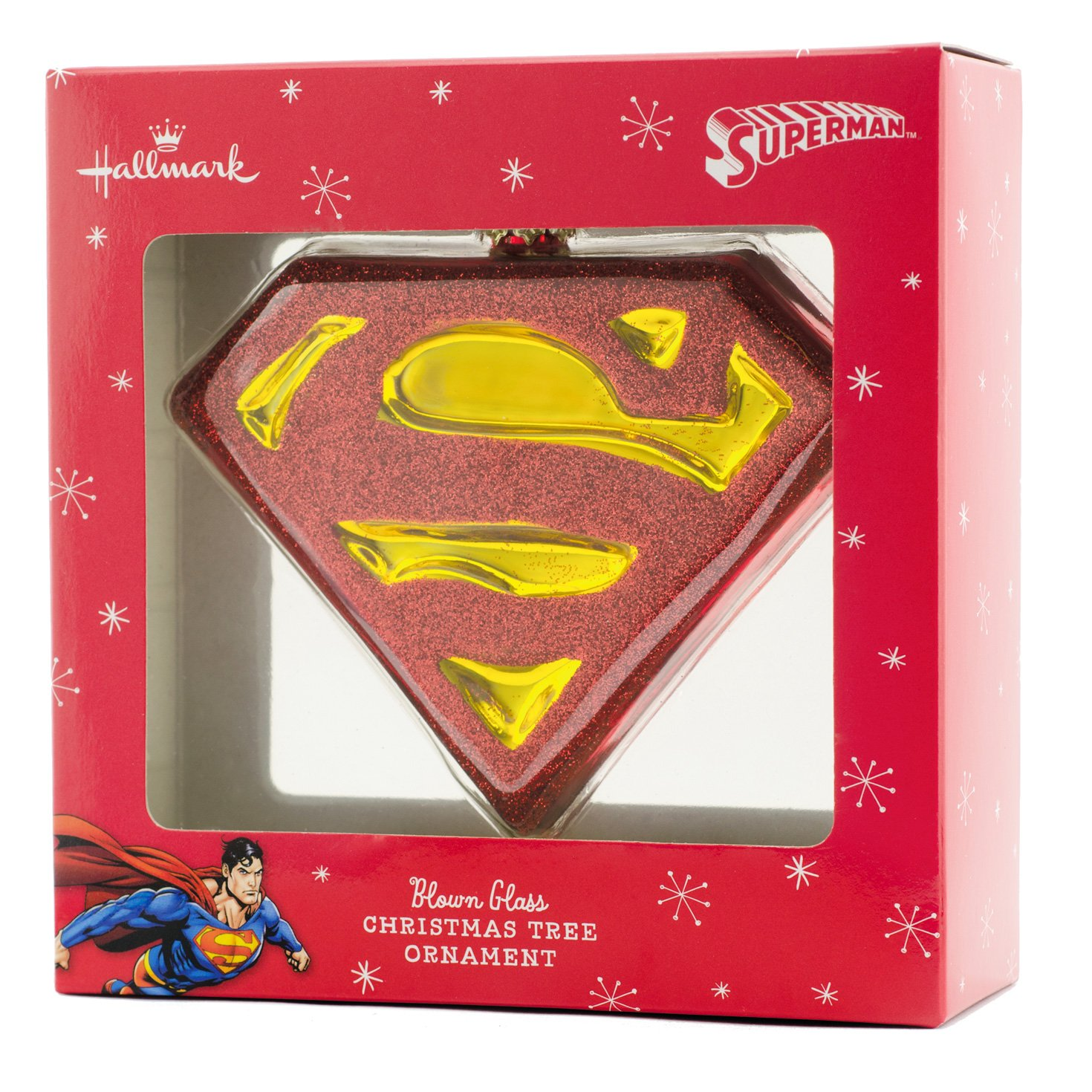 Amazon.com: Hallmark Superman Shield Christmas Ornament: Home ...