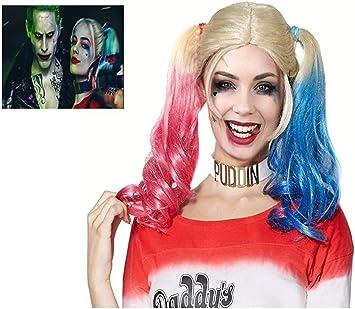 ML Peluca Peluca Disfraz Harley Quinn Suicide Novia de Joker ...