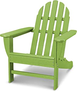 POLYWOOD AD4030LI Classic Outdoor Adirondack Chair, Lime