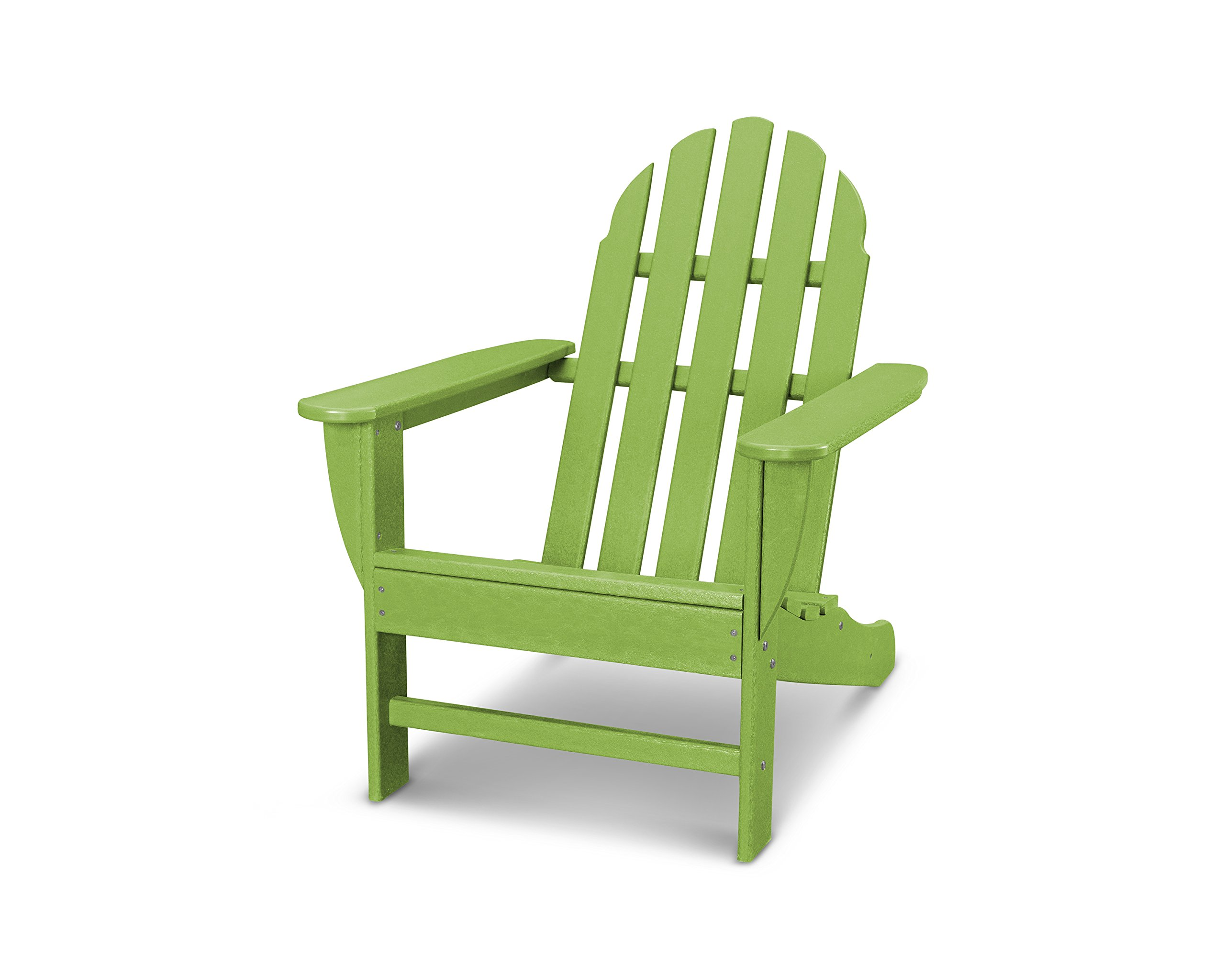 POLYWOOD AD4030LI Classic Outdoor Adirondack Chair, Lime by POLYWOOD