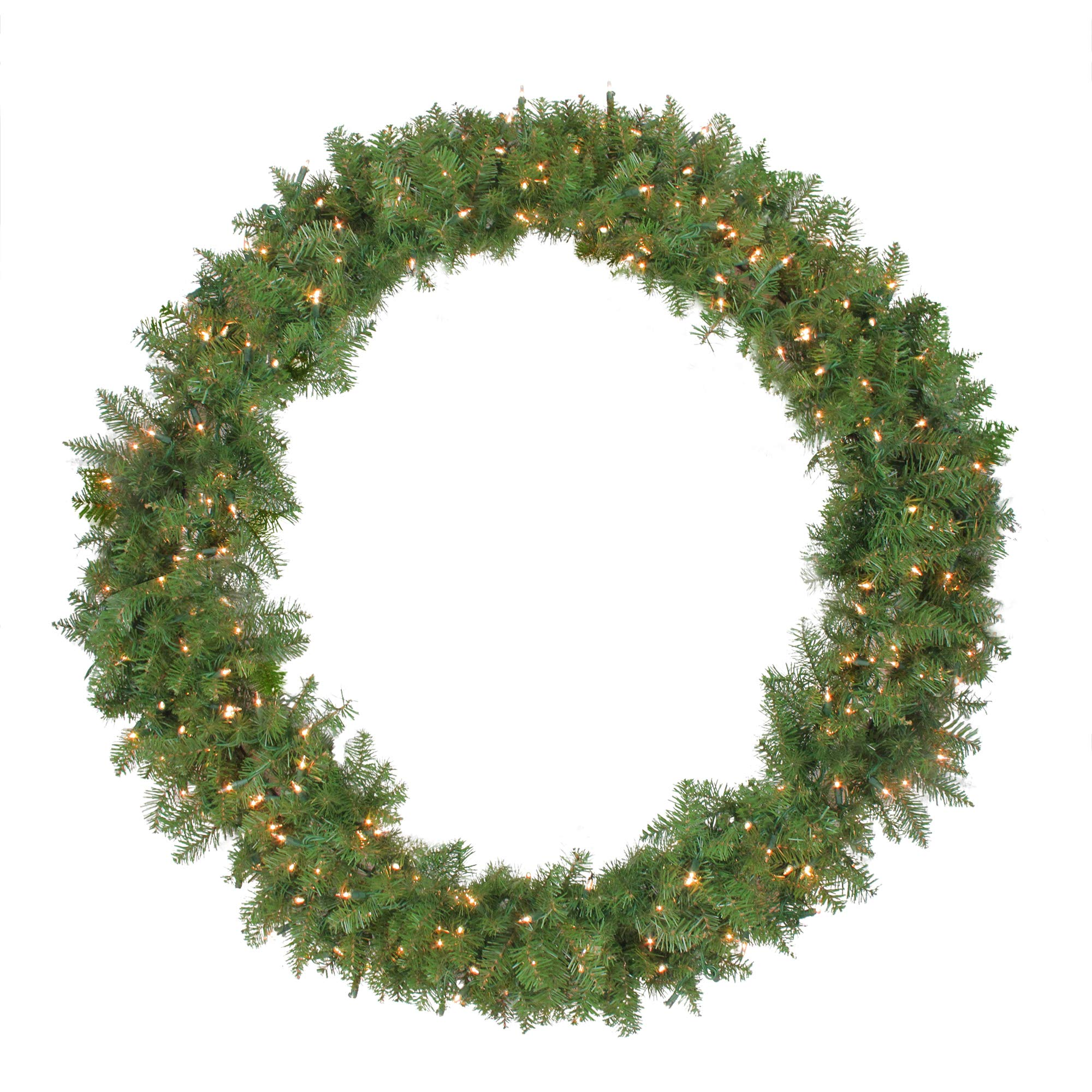 NORTHLIGHT Z84671 48'' Pre-Lit Northern Pine Artificial Christmas Wreath-Clear Lights