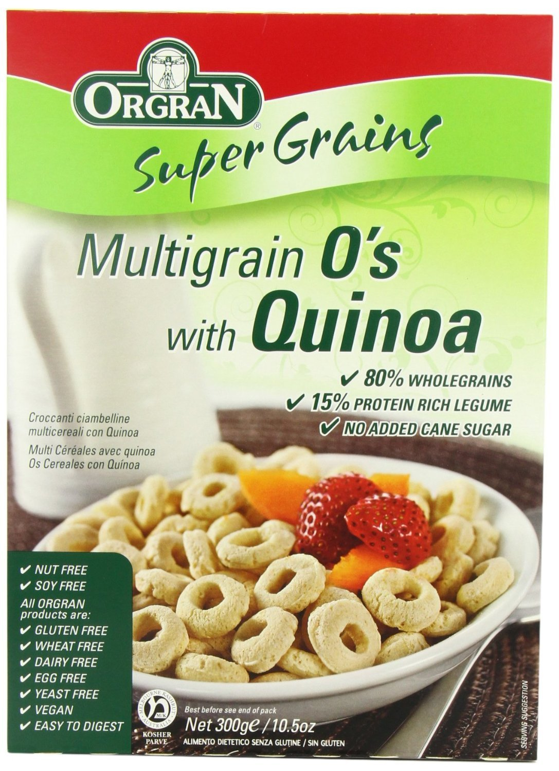 Orgran - Supergrains - Multigrain Breakfast Os with Quinoa - 300g (Case of 6)