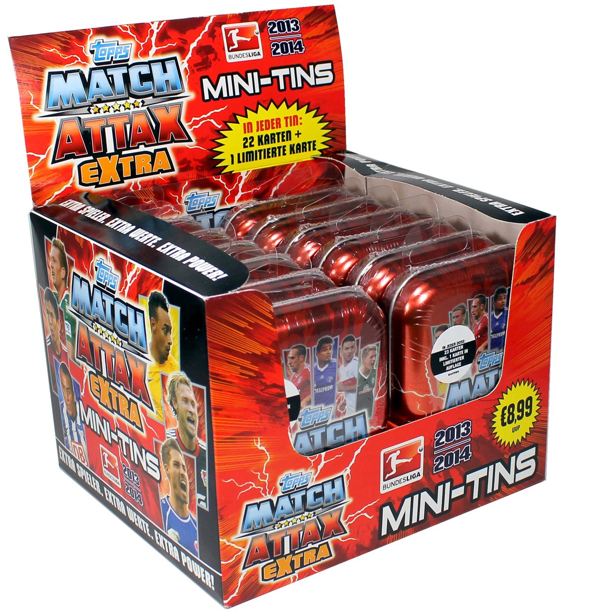 Topps Match Attax EXTRA 2013-14 Mini-Tins Display