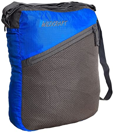 bee94d70f Wildcraft Women s Pac n Go Sling Nylon 6 Ltrs Blue and Grey Packable  Messenger Bags (8903338012474)  Amazon.in  Bags
