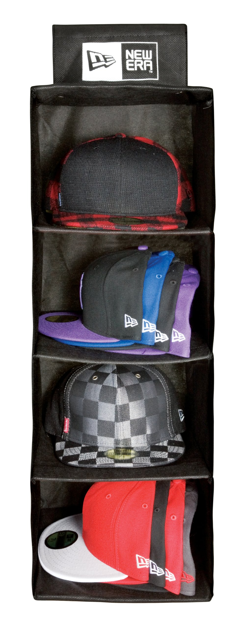 New Era Cap Storage System Baseball Hat Holder Rack Wall Hooks Organizer  Black c4befb569e2