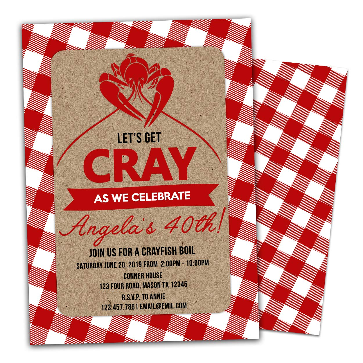 graphic relating to Crawfish Boil Invitations Free Printable identified as : Crawfish Boil Invites Birthday Cookout Cray