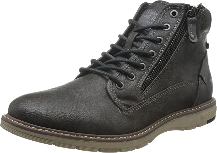 Mustang Lace Up Boot Mens Dark Grey Synthetic Chukka Boots
