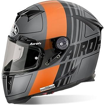 Airoh Casco Integral Casco de Moto GP 500 SCRAPE Naranja Mate XS