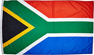 product image for Annin Flagmakers Model 197570 South Africa Flag Nylon SolarGuard NYL-Glo, 5x8 ft, 100% Made in USA to Official United Nations Design Specifications