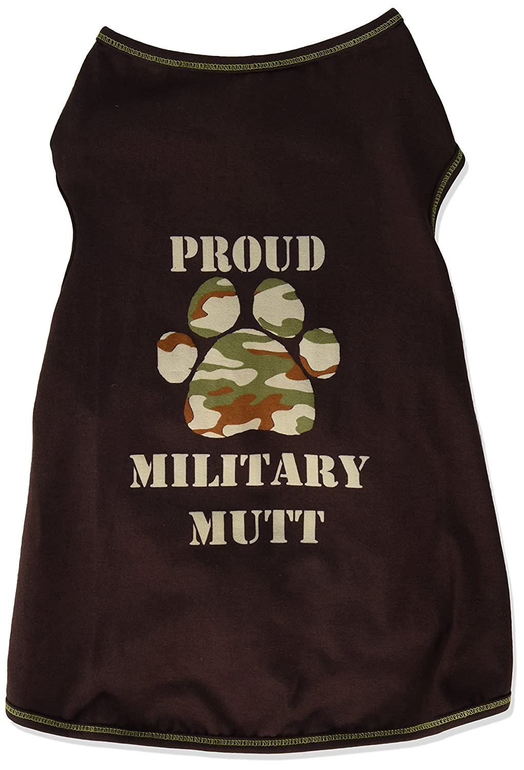 I See Spot Proud Army Dog  Tank, X-Large, Chocolate