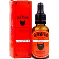 Golden Beards Kobenhavn BALM GROOMING OIL - SURTIC 30ml Oil - The Perfect Beard Oil for Sensitive Skin - Best Beard…