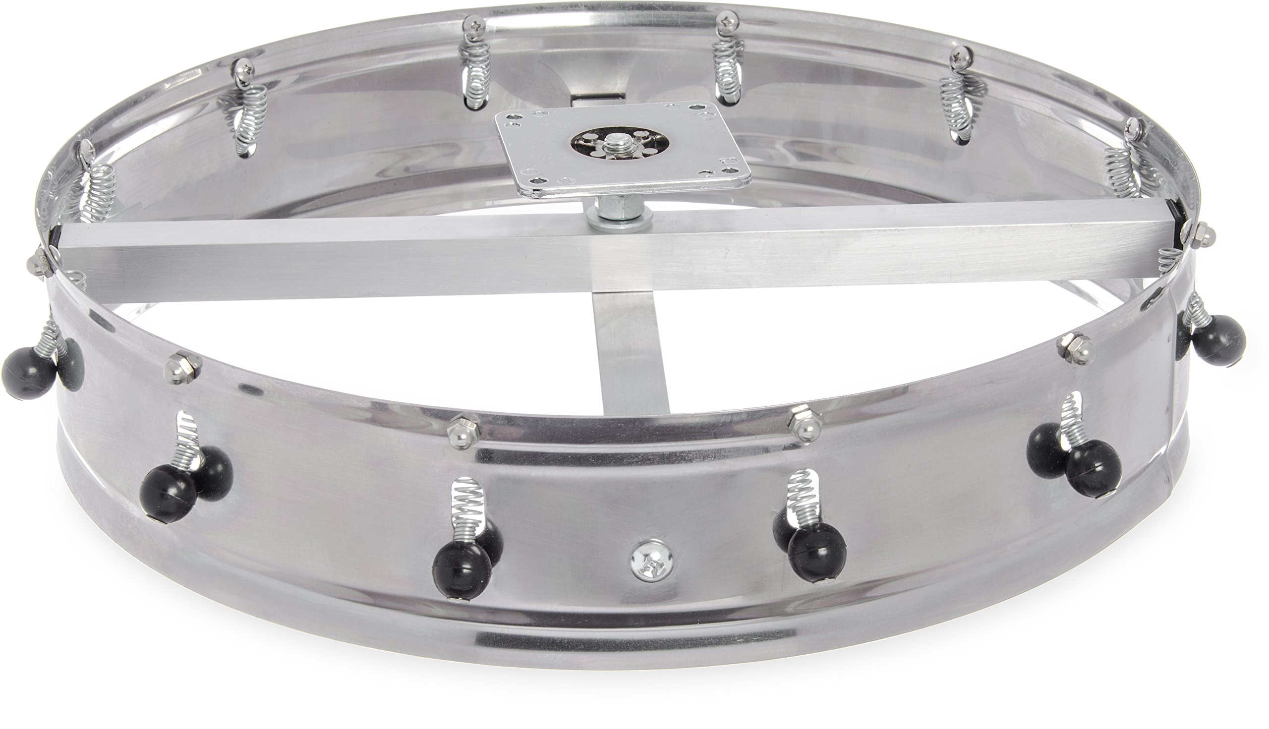 Carlisle 3812CH Stainless Steel Ceiling-Mount Order Wheel with 12 Clips, 14'' Dia. x 4-1/2'' H