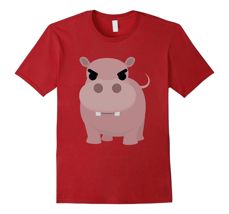 Hippopotamus Angry Emoji Shirt T-Shirt Hippo Tee-Vaci