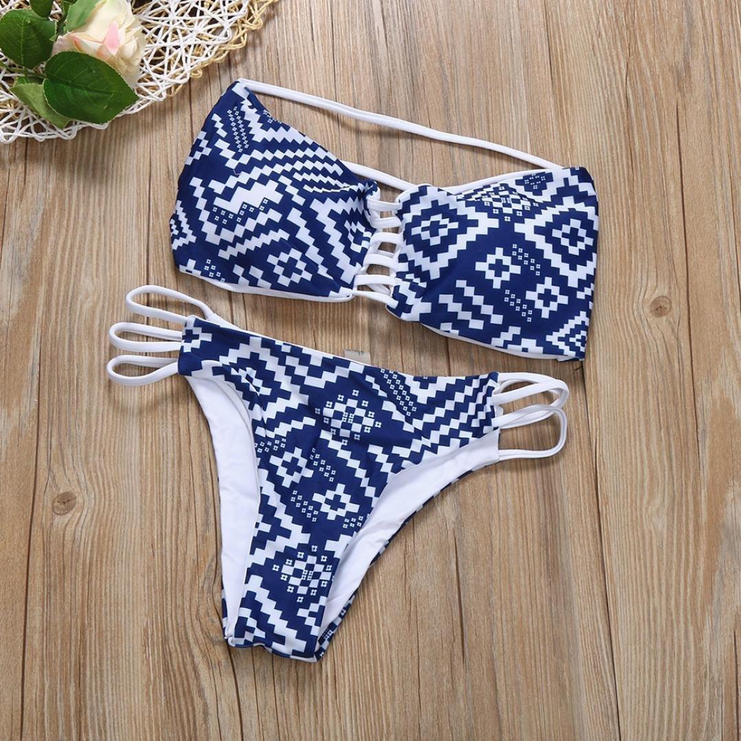 DEELIN Las Flexiones De Bikini Atractivas De La Playa De Las Mujeres Espesan El Sistema De BañO De La Nadada del Sujetador Swimwear De La Playa: Amazon.es: ...
