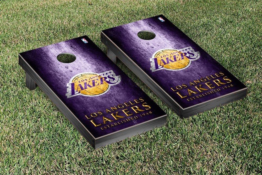 Los Angeles LA Lakers NBA Basketball Regulation Cornhole Game Set Museum Version by Victory Tailgate