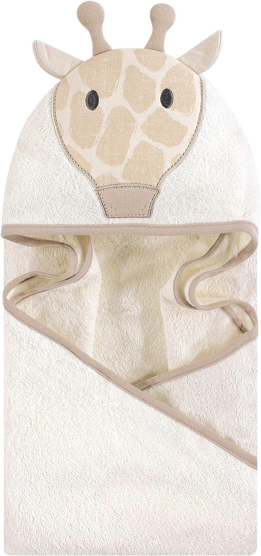 Modern Giraffe Hudson Baby Animal Face Hooded Towel