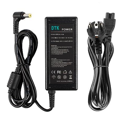 DTK® Computadora portátil Cargador Fuente de alimentación Adaptador Unidad de alimentación para portátil Acer Output: 19V 3.42A 65W Cargadore y ...