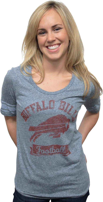 NFL Buffalo Bills Vintage Triblend Short Sleeve Crew Neck Tee Women's