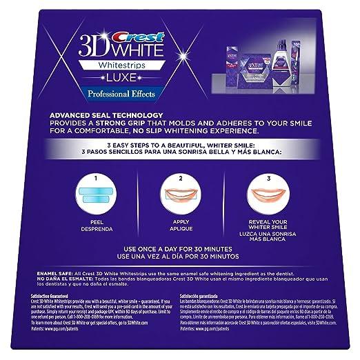 Amazon.com: Blanqueador De Dientes Crest 3D - Tratamiento De 40 Tiras De Blanqueamiento Dental - Quita 14 Años De Manchas - Luce Una Sonrisa Mas Blanca: ...