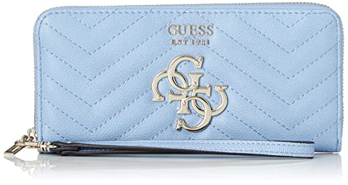 Guess - Slg Large Zip Around, Mujer, Negro (Sky), 21x10x2 cm ...