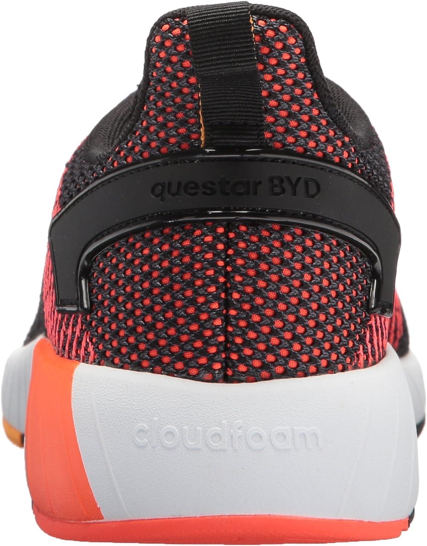 adidas Men's Questar BYD Running Shoe Black/White/Solar Red