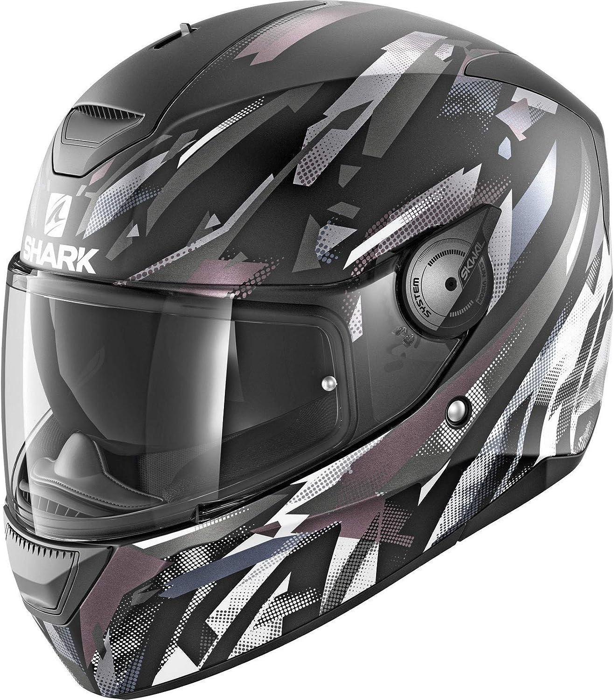 Shark D-SKWAL Motorcycle Helmet Kanhji Matt KWA S Free Additional Visors