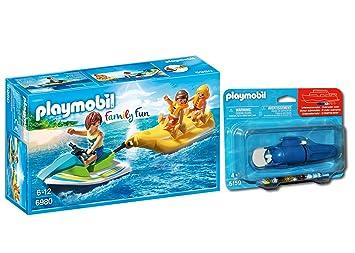 Outletdelocio. Playmobil 6980. Moto de Agua con Banana y Motor Submarino Incluido. Navega de Verdad por el Agua. 23815/17357